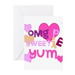 OYOOS Sweetie Pie design Greeting Cards (Pk of 10)