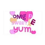 OYOOS Sweetie Pie design 38.5 x 24.5 Wall Peel