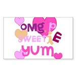OYOOS Sweetie Pie design Sticker (Rectangle 50 pk)