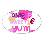 OYOOS Sweetie Pie design Sticker (Oval 50 pk)