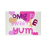 OYOOS Sweetie Pie design Rectangle Magnet (100 pac
