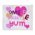 OYOOS Sweetie Pie design Throw Blanket