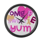 OYOOS Sweetie Pie design Large Wall Clock