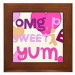 OYOOS Sweetie Pie design Framed Tile