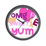 OYOOS Sweetie Pie design Wall Clock