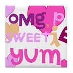 OYOOS Sweetie Pie design Tile Coaster