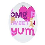 OYOOS Sweetie Pie design Ornament (Oval)