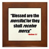Matthew 5:7 Framed Tile