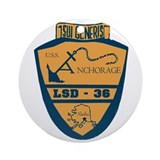 USS Anchorage LSD 36 Ornament (Round)