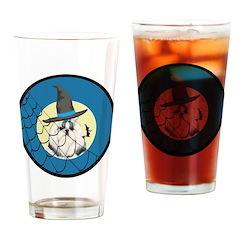 Halloween Shih Tzu Puppy Drinking Glass