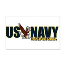 Navy Grandpa Car Magnet 20 x 12