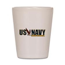Navy Grandma Shot Glass