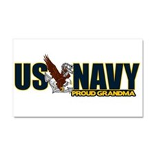Navy Grandma Car Magnet 20 x 12