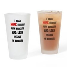 Funny Friends benefits Drinking Glass