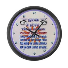God-I Love This Place.... Large Wall Clock