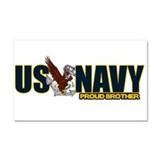 Navy Brother Car Magnet 20 x 12