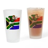 Springboks Rugby Forward Drinking Glass