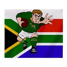 Springboks Rugby Forward Throw Blanket