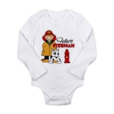 Future Fireman Long Sleeve Infant Bodysuit