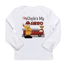 Uncles My Hero Firefighter Long Sleeve Infant T-Sh