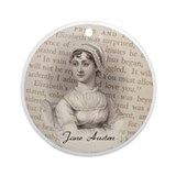 Jane Austen Gift Ornament (Round)