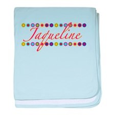 Jaqueline with Flowers baby blanket