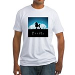 Nightsky Poodle Fitted T-Shirt