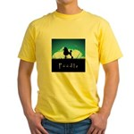 Nightsky Poodle Yellow T-Shirt