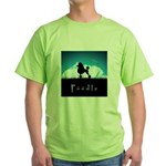 Nightsky Poodle Green T-Shirt