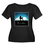 Nightsky Poodle Women's Plus Size Scoop Neck Dark