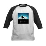 Nightsky Poodle Kids Baseball Jersey