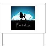 Nightsky Poodle Yard Sign