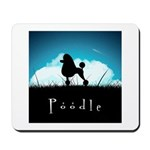 Nightsky Poodle Mousepad