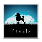 Nightsky Poodle Tile Coaster