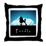 Nightsky Poodle Throw Pillow
