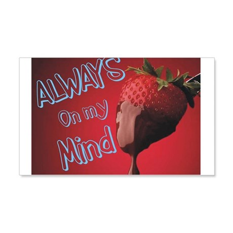 Strawberry and Chocolate 22x14 Wall Peel