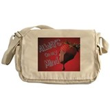 Strawberry and Chocolate Messenger Bag