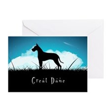 Nightsky Great Dane Greeting Cards (Pk of 20)