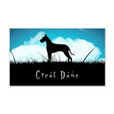 Nightsky Great Dane 22x14 Wall Peel