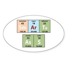 Chemistry Smart Ass Oval Decal