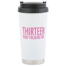 Simple Thirteen Point Freakin Ceramic Travel Mug