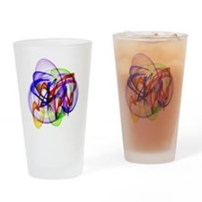 Swirly Wirly Colors Drinking Glass