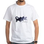Running Huskies White T-Shirt