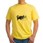 Running Huskies Yellow T-Shirt