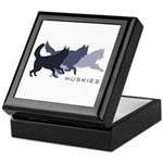 Running Huskies Keepsake Box