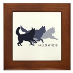 Running Huskies Framed Tile
