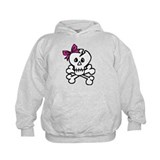 Skull with Pink Bow Hoodie