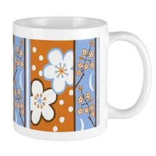 Orange/Blue Plum Blossom Mug