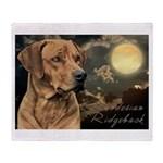 Moonlit Ridgeback Throw Blanket