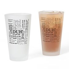 Funny Dumb Drinking Glass